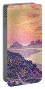 Sunset At Ambleteuse Pas-de-calais Portable Battery Charger by Theo van Rysselberghe