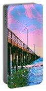 Sunset At Avila Beach Pier Portable Battery Charger