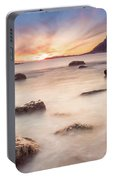 Sunset At Bleik Portable Battery Charger
