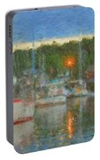 Sunset At Boothbay Harbor Maine Portable Battery Charger
