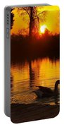 Sunset At Copper Canyon Ranch Portable Battery Charger