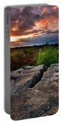 Sunset At Fontainebleau Portable Battery Charger