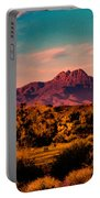 Sunset At Four Peaks Portable Battery Charger