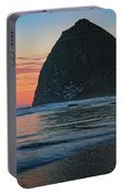 Sunset At Haystack Rock Portable Battery Charger