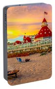 Sunset At Hotel Del Coronado Portable Battery Charger