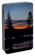 Sunset At Lake Almanor Portable Battery Charger