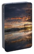 Sunset At Marina In Anacortes In Washington Portable Battery Charger