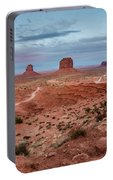 Sunset At Monument Valley No.2 Portable Battery Charger