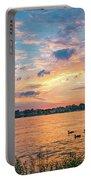 Sunset At Morse Lake Portable Battery Charger