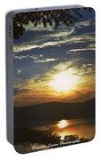 Sunset At Multnomah Falls Portable Battery Charger