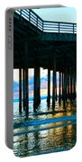 Sunset At Pismo Beach Pier Portable Battery Charger