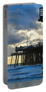 Sunset At Pismo Pier Portable Battery Charger