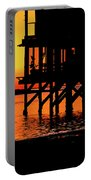 Sunset At Raft With Bird Portable Battery Charger