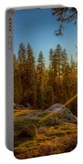 Sunset At Sequoia Portable Battery Charger