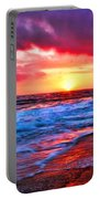 Sunset At Strands Beach Portable Battery Charger