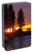 Sunset At Sunset Beach In Vancouver Bc Portable Battery Charger