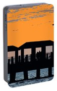 Sunset At The Fishing Pier Portable Battery Charger