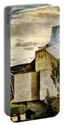 sunset at the marques de riscal Hotel - frank gehry - vintage version Portable Battery Charger