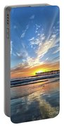 Sunset At The Pismo Beach Pier Portable Battery Charger