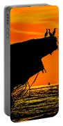 Sunset At The Ss Atlantus Concrete Ship Portable Battery Charger