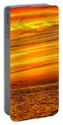 Sunset At The Ss Atlantus - Pano Portable Battery Charger