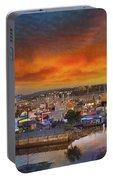 Sunset At Victoria Inner Harbor Fisherman's Wharf Portable Battery Charger