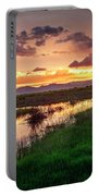 Sunset At Whitewater Draw Portable Battery Charger