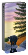 Sunset Bear Portable Battery Charger by Tracey Goodwin