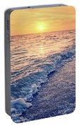 Sunset Bowman Beach Sanibel Island Florida Vintage Portable Battery Charger