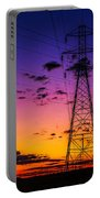 Sunset By The Wires Portable Battery Charger