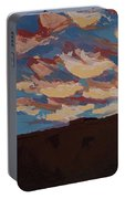 Sunset Clouds Over Santa Fe Portable Battery Charger by Erin Fickert-Rowland