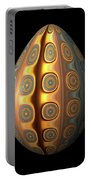 Sunset Egg With Concentric Circles Portable Battery Charger