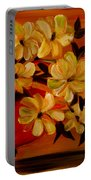 Sunset Floral Portable Battery Charger