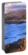 Sunset Glow Along Pacific Coast Portable Battery Charger