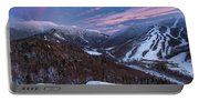 Sunset Glow Over Cannon Mountain Portable Battery Charger