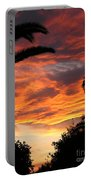 Sunset God's Fingers In Clouds  Portable Battery Charger