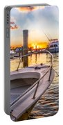 Sunset Harbor Portable Battery Charger
