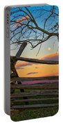 Sunset In Antietam Portable Battery Charger
