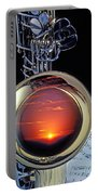 Sunset In Bell Of Sax Portable Battery Charger