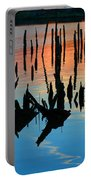 Sunset In Colonial Beach Virginia Portable Battery Charger