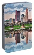 Sunset In Columbus Portable Battery Charger