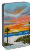 Sunset In Paradise Portable Battery Charger by Lloyd Dobson