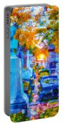 Sunset In Pere Lachaise Abstraction Portable Battery Charger