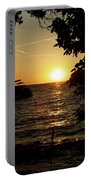 Sunset In Rovinj Croatia Portable Battery Charger