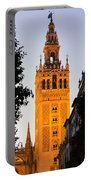 Sunset In Seville - A View Of The Giralda Portable Battery Charger