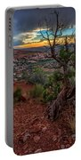 Sunset In The Garden Of Eden Portable Battery Charger