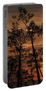 Sunset In The Pine Woods Portable Battery Charger