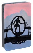 Sunset On Boot Hill Portable Battery Charger