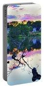Sunset On Kenoza Lake Haverhill Ma Reflection Portable Battery Charger