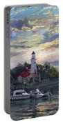 Sunset On Lake Shore Mississauga Portable Battery Charger